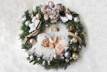 Newborn Christmas Card Ideas / #Newborn #Christmas xmas cards ideas photographs photography unique inspirations!