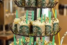 Starbucks themed table