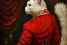 фото regal cats in oil 2