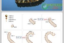 beaded pendants hearts