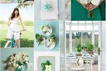 Grün/Nudes / Hochzeitsfarben