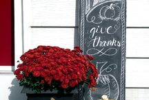 Give Thanks / Autumn/Fall Decor... inside and out!