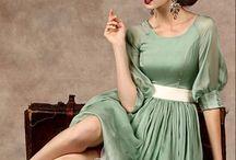 Retro, vintige, historical dress