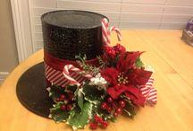 klobouky vánoční