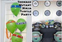 TMNT Kid Birthday Party / Teenage mutant ninja turtle party theme