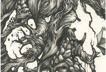 B/W illustrations