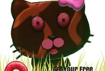 Chocolate Candy Cat / Get your FREE paper Candy Cat!  LIKE us here and send us a message! http://bit.ly/candycat