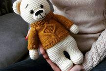 Amigurumi crochet bears #nelly_bear / crochet amigurumi stuffed bears and plushies