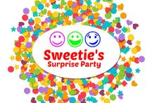 Sweeties Surprise Party / Welcome to Sweetie's Surprise Party!  Do you like to learn?  Do you like to have fun?  Our videos are fun ways to learn about colors, letters, numbers, words, math, and shapes.  So, let's learn together!