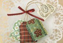 Gifts / Idéias para presentes delicados, de rápida confecçào.