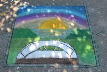FLIMP Festival 2015 / The complete collection of chalk art drawings in the Museum parking lot created for the Montgomery Museum of Fine Arts Flimp Festival from May 1 - 2.