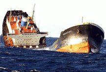 ABONDONED SHIP & SHIP WRECK / Gemi Kazaları - Çatışma - Oturma -Vs