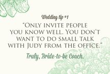Bride-to-be Coach / Some tips for the bride!