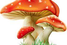 mushroom cartoon
