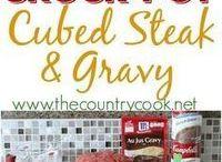 Beef gravy steak