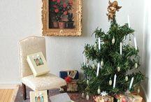 Christmas doll house