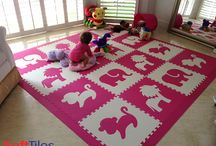 Girls Playrooms Ideas / SoftTiles flooring ideas for girls playrooms.