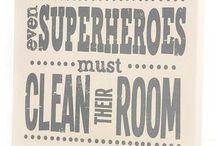 Boys superhero room