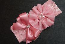 faixa flor e laço rosa