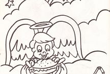 Coloring pages scanned