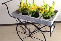 carretas para flores.