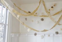 garlands and poms