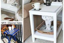 Møbler update / Opfriskning af møbler