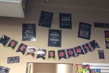 Not Just for Bulletin Boards / Our bulleting board sets, cut outs and trimmers can be used in a variety of ways, not just for a bulletin board.  Check out what we have done with these items.