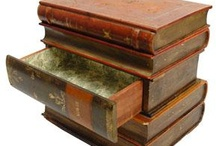 faux book end table