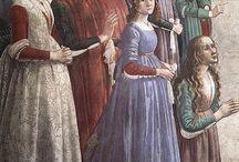 italian 1490-1503 / inspiration for early italian ren garb for 12th night 2015