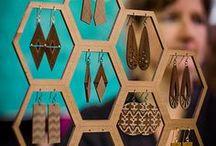 Exhibidores de feria artesanal
