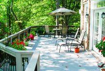Narrow decks garden ideas