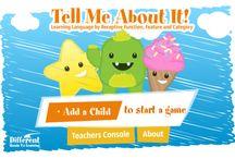 Apps for developing language, discrimination & reasoning skills
