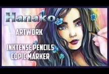 Pencils and Copics Paintings