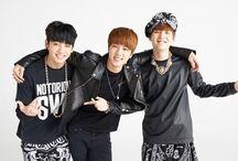 Kookie, Jin, and Suga