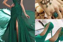 dresses and jewels