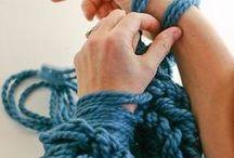 腕編み ザクザク