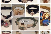 Batterfly flowers collection / Flowers, colors and imagination combined with silks, vintage buttons and lace to give birth to original bracelets.