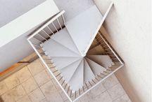 Escaleras caracol cuadradas
