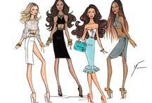 Fashion İllustrations / Moda-Tasarım Çizimleri