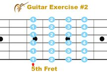 GUITAR PRACTICE TIPS/GUITAR EXERCISES / Guitar exercises to train the fingers to go quickly and easily to the correct place