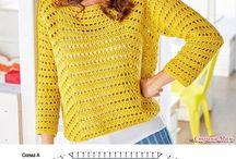 Пуловеры, жакеты крючком