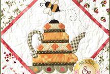 Quilt garden tea party
