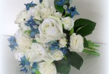 Blue silk Flowers / All shades of blues for wedding flowers and arrangements in artificial flowers