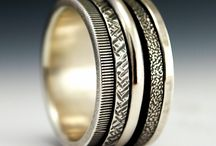 Spinner, Meditation, Anxiety, Prayer or Worry Rings / The Kinetic Collection at Sault Jewelry.