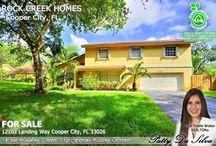 Rock Creek Cooper City, FL Homes for Sale by Broker Patty Da Silva of Green Realty Properties