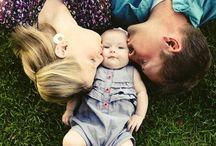 fotos de bebê e família