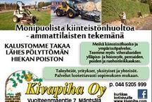 Kiinteistöhuolto-Kivapiha / Monipuolista kiinteistönhuoltoa - ammattilaisten tekemänä! www.kivapiha.com