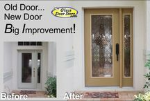 Installing new front doors / Remove and replace exterior front doors to update or to replace rotten or damaged doors. Glass door inserts in any door add style and privacy and beauty.