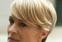 Claire Underwood / inspiration for tailored and chic work wardrobe - just over knee dresses. colour palette limited